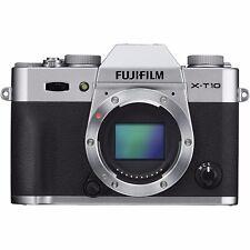 Fujifilm X-T10 16.3MP Digital Camera - Silver (Body Only) #CR - MINT!
