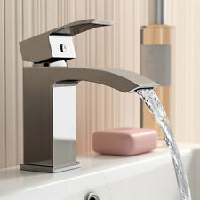 Lucia Modern Bathroom Square Waterfall Basin Sink Mixer Tap Chrome Cloakroom