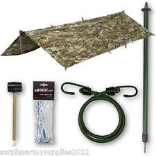 ULTIMATE CADET BASHA SET MTP BTP POLE TENT PEGS MALLET BUNGEE ARMY CAMPING SCOUT