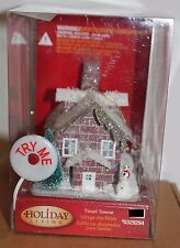 TINSEL TOWNE CHALET LED ORNAMENT Multicolored Christmas Village House Lights NEW