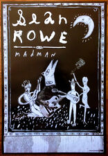 SEAN ROWE Madman Ltd Ed Discontinued RARE Poster +FREE Folk Indie Rock Poster!