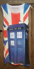 Her Universe DOCTOR WHO Police Box Tunic Tank Cosplay Bodycon Stretch Dress M EX