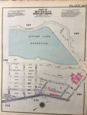 1928 VELODROME, DE WITT CLINTON HS, HUNTER COLLEGE, KINGSBRIDGE, BRONX ATLAS MAP