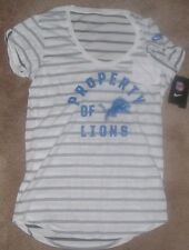 NEW NFL Detroit Lions Cuffed Pocket NIKE Shirt Women Ladies S Small NEW NWT