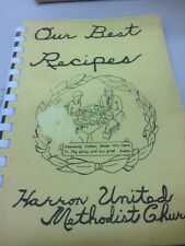 Harron United Methodist Cookbook  cook book recipes spiral softcover vintage