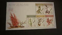 2014 NEW ZEALAND POST STAMPS, SET OF 5 SEAWEEDS ISSUE MINT MNH MINISHEET