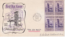 POSTAL HISTORY-FIRST DAY COVER FDC 1939 CENTURIES OF PRINTING HOLLAND CACHET