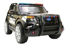 Jeep Geländewagen Kinder Elektro Auto Polizei USA Kinderfahrzeug Fernbedienung