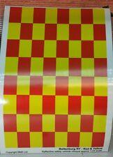 G 1:24 Scale Fire Engine Code 3 Battenburg Reflective Model Kit Decal A5 Sheet