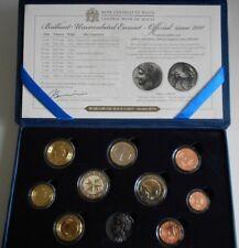 Coffret  Set BU Euros - MALTA  MALTE - 2011- 8 Coins + 2 € Premières élections