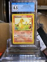 🔥BASE SET🔥 1999 Pokemon Base Set Charmander #46 CGC 8.5 NM/MINT+ PSA BGS SA