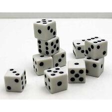 Spielwürfel SET 10 tlg, Kunststoff, Brett Spiel Spiele Augen Knobel Würfel,weiss