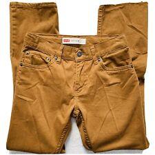 Levis 511 Kids' Slim Straight Khaki Jeans Pants Size 12R Adjustable Waist NWOT!