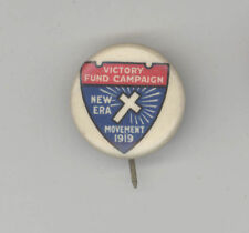 1919 NEW ERA MOVEMENT Victory Fund Campaign PRESBYTERIAN WWI Pinback PIN Button