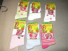 lot de 6 paires de chaussettes charlotte aux fraises en 31-34(2 lots dispo)