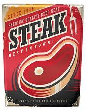 Blechschild XXL Küche  Steak