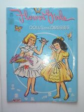 Vintage Saalfield Artcraft Flower Girls Dolls & Dresses Uncut Book Toy