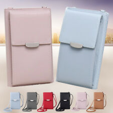 Womens Cell Phone Bag PU Leather Crossbody Mini Purse Wallet with Shoulder Strap