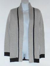 Jones New York Collection Woman Plus Size Open Front Cardigan Black & Cream 2X