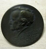 Bronze Plakete Grundsteinlegung R.Wagner Denkmals am 6.3.1934 Hergest. Leipzig