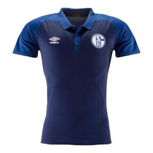 Umbro Football Soccer FC Schalke 04 S04 Mens Short Sleeve SS Polo Shirt Top