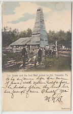 Lithograph - Oil Drilling - First Oil Well in Titusville, Pennsylvania - 1906