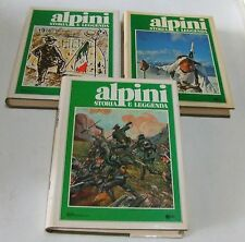 ALPINI storia e leggenda . 3 volumi . 1981