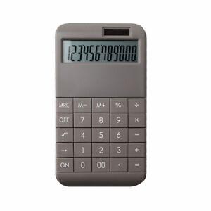 Taschenrechner mit Standardfunktionen - 19 x 10 x 1,2 cm - grau -