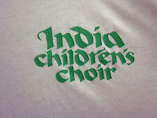 INDIA CHILDREN'S CHOIR tee XL Taj Mahal chorus T shirt neon Manipur dayglo OG
