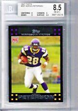 2007 Topps #301 Adrian Peterson Rookie Card BGS NM-MT+ Minnesota Vikings