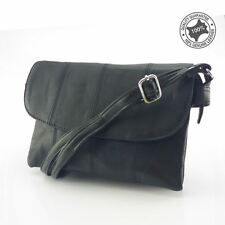 Woman's Crossbody Bag Sheepskin Leather Black New