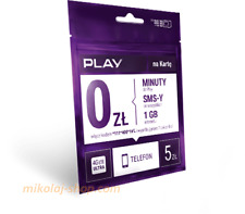 Starter Play 5 PLN Karta SIM Card PrePaid Play 5