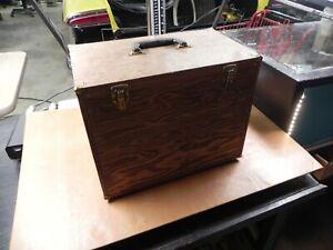 VINTAGE WOODEN PIT BOX