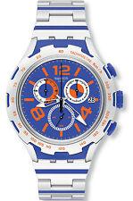 Swatch YYS4011AG Chemical Blue Dial Aluminum Chronograph Men's Watch