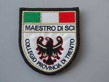 PATCH MAESTRO SCI COLLEGIO PROVINCIA DI TRENTO RICAMATA TERMOADESIVA CM 6,5X7,5