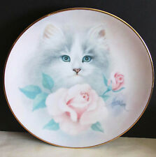 "Blushing Beauties 1st Petals & Purrs Cat Decorative Plate Harrison 8.5"" Free Sh"