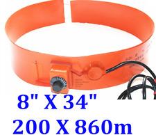 """8"""" X 34"""" 200 X 860mm 600W WVO Bio-diesel Tank Barrel 5Gal CE UL Pail Heater"""