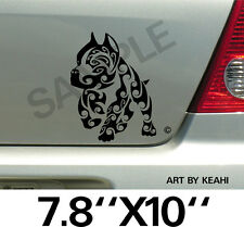 Pitbull Tribal Vinyl Decal Sticker Car Truck Window or Body Stickers, Decals 000