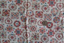 "Concord Cotton Fabric CHEATER QUILT APPLIQUE BLOCKS Joan Kessler 44""W x 2⅓ Yards"