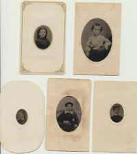 SET OF FIVE PORTRAITS OF YOUNG WOMEN W/ TINTED CHEEKS -VERY SHARP