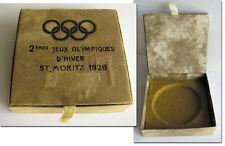 Olympic Winter Games St.Moritz 1928 Bronze Winner medal original box