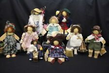 Vintage Lot of 12 LIZZIE HIGH Wooden Dolls & Accessories w/Tags LADIE & FRIENDS