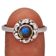 Labradorite - Madagascar 925 Sterling Silver Ring Jewelry s.9.5 AR172800 103V