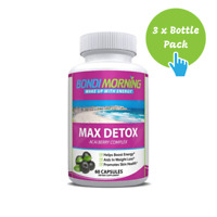 Max Detox, Natural Acai Berry Dietary Supplement - 60 Caps x 3