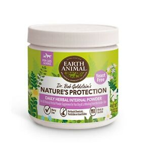 Earth Animal Yeast Free Flea and Tick Internal Powder For Dogs & Cat 8oz