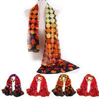 Fashion Dot Girl Women Long Soft Wrap Ladies Shawl Silk Chiffon Scarf Warm
