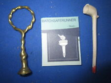 GEORGIAN FANCY RING BRASS PIPE TAMPER / PIPE STOPPER / SEAL - LARGE COLLECTION