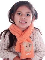 New Boys Girls Kids Winter Warm Fleece Scarf Soft Flower/Bear Long Scarves