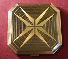 Vintage 1950's Wadsworth Art Deco Design Compact w/Puff Compartment & Mirror