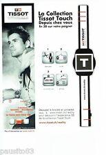 PUBLICITE ADVERTISING 116  2011  Tissot  montre  Touch  & Mickael Owen